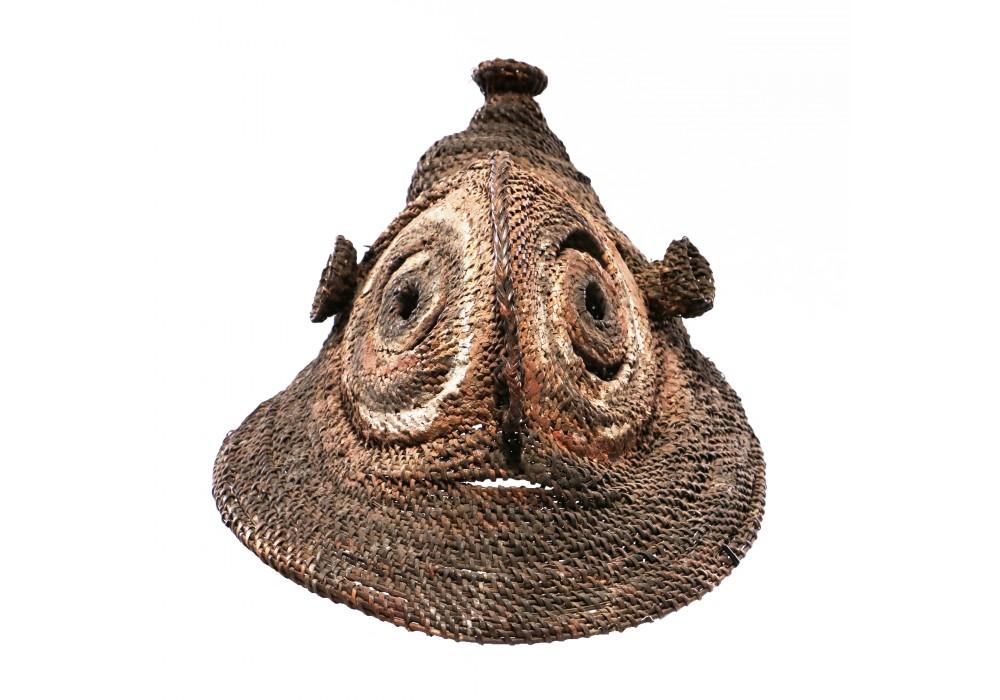 Masque à igname Abelam en rottin tressé, Papouasie Nouvelle-Guinée, Déb. 20e s.