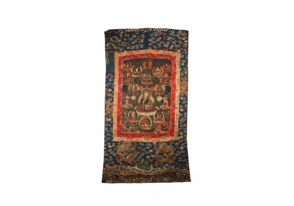 Tibetan thangka of Padmasambhava