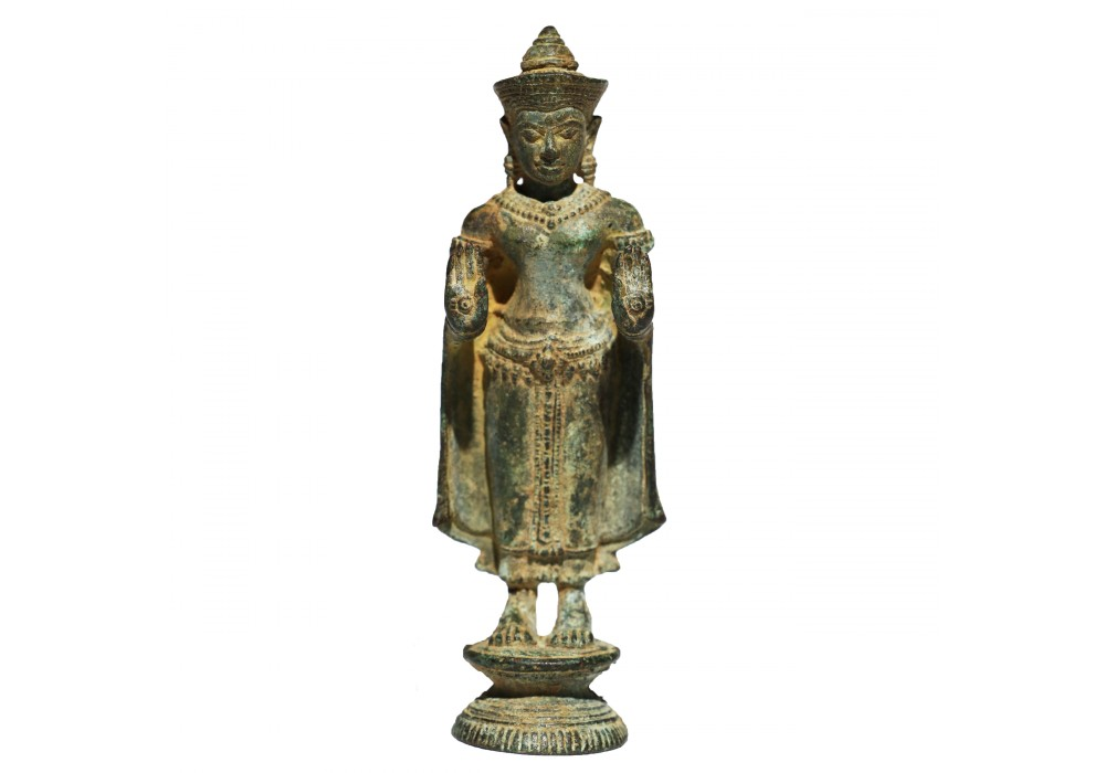 Thai bronze figure of a standing Buddha