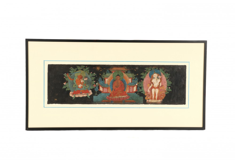Framed Tibetan black page