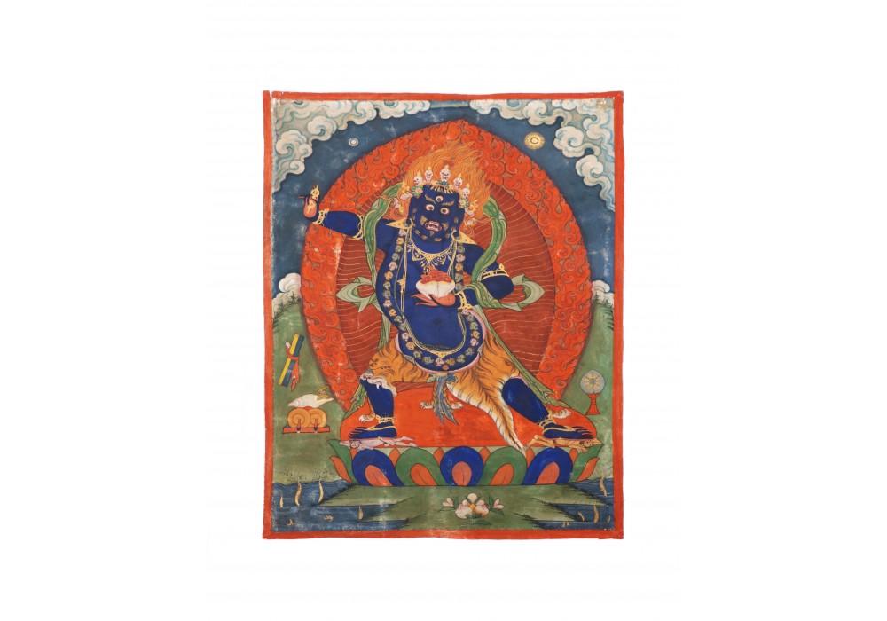 Tibetan painting depicting Vajrapani