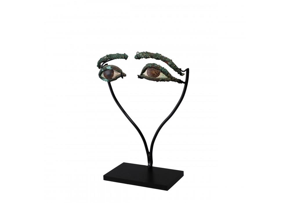 Paire d'yeux et de sourcils d'un sarcophage