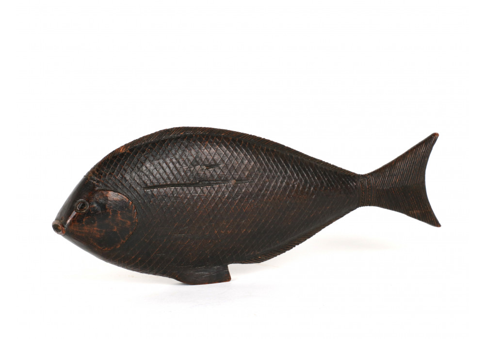 Chinese or Korean wooden carved fish