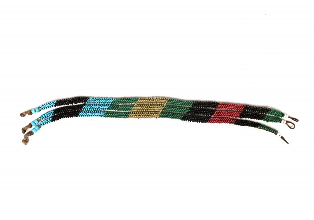 Multicolored beaded Zulu necklace