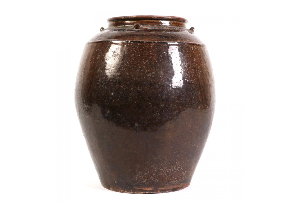 Song Dynasty Martaban Jar with four loop handles on the shoulder