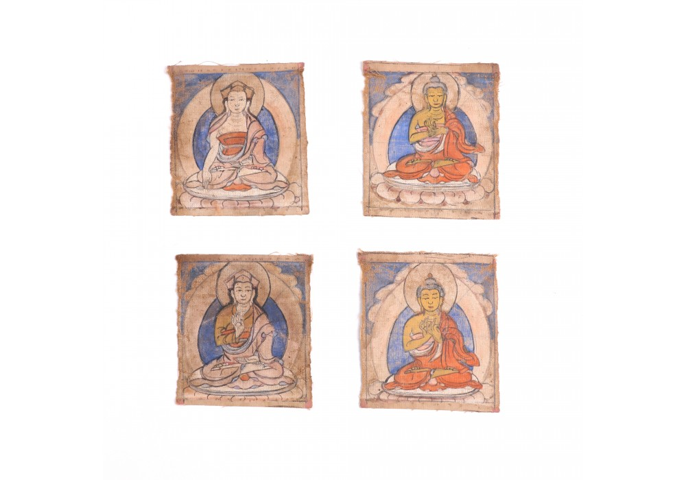 Lot of four Tibetan tsakli