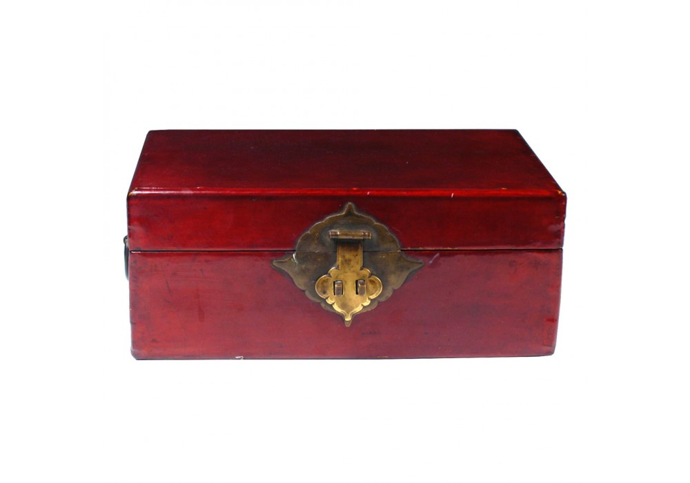 Boîte à document en cuir laqué, Chine