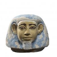 Bouchon de vase canope en forme de tête humaine (Amset)