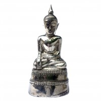 Bouddha de Birmanie en argent