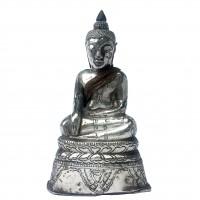 Bouddha miniature en argent, Thaïlande