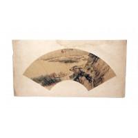 Peinture sur éventail, dynastie Qing