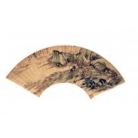 Peinture avec singes sur éventail, dynastie Qing