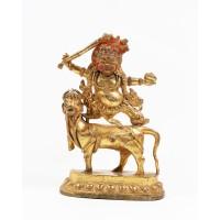 Statue tibétaine en bronze doré de Sri Devi