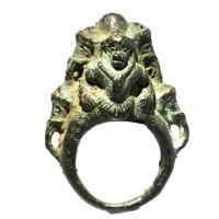 Bague de pied (?) Khmer en bronze