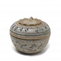 boîte avec couvercle en céramique, Thaïlande, Sawankhalok