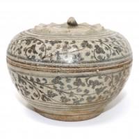 Boîte à couvercle en céramique, Thaïlande, Sawankhalok