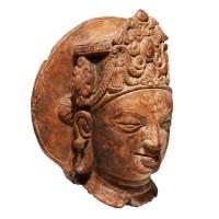 Tête de Vishnu Gupta en terre cuite, Bangladesh