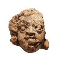 Minuscule tête Gupta en terre cuite, Bangladesh, 4e - 5e s.