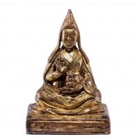 Statue d'un lama en bronze doré