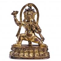 Statue de Vajrapani en bronze doré
