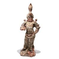 Lokapala en terre cuite, Dynastie Tang