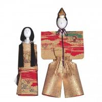 Rare couple de poupées Tachibina, période Meiji/Taisho