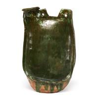 Flasque à glaçure verte, dynastie Liao