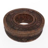 Boîte à bijoux tressée en forme de donut