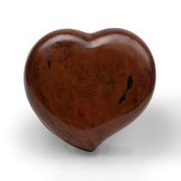 Boîte en forme de coeur laquée noire et rouge