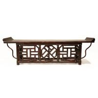 Modèle réduit d'une table autel en bambou, Chine, 19e s.