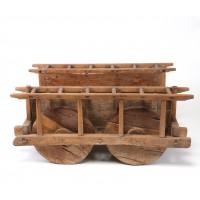 Chariot à quatre roues en bois, Chine
