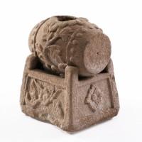 Brûle parfum en pierre à la forme d'un tambour, Chine