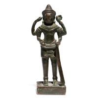 Petite figure de Shiva en bronze Khmer, Cambodge, 12e s.