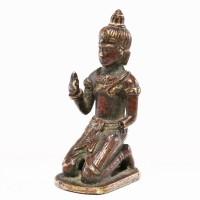 Figure en bronze Khmer-Bayon, 12e - 13e s.