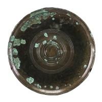 Miroir Khmer en bronze orné de motifs concentriques, Cambodge, 12e - 14e s.