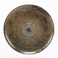 Miroir Khmer en bronze et motifs concentriques