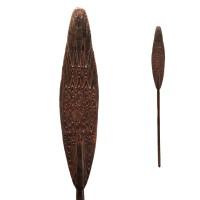 Pagaie de canoë en bois du Lac Sentani