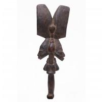 Bâton de danse à deux têtes Shango, Yoruba