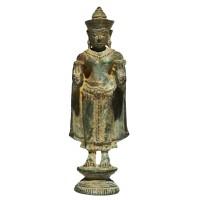 Belle représentation de Bouddha en bronze, Thaïlande