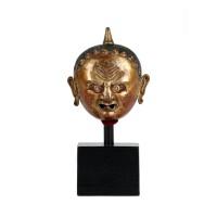 Petite tête en cuivre doré, Tibet