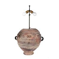 Grande jarre Bozo montée en lampe