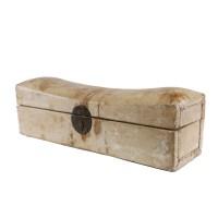 Boîte/coffre et appui-nuque chinois en cuir
