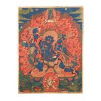 Peinture représentant Mahakala, Tibet
