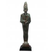 Grande statuette en bronze représentant le dieu Osiris