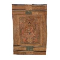 Ancienne thangka représentant le Bouddha Amitabha, Tibet