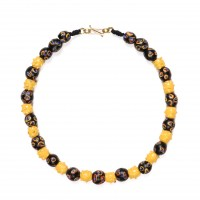 ISA B // Necklace with very rare yellow raised eyes beads