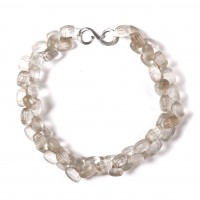 ISA B // Necklace with translucent Czech molded glass beads