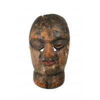 Masque Népalais représentant une femme avec un goitre
