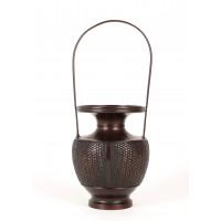 Vase Ikebana en bronze, Japon