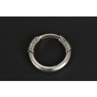 Bracelet en argent torsadé, fermoir en spirale